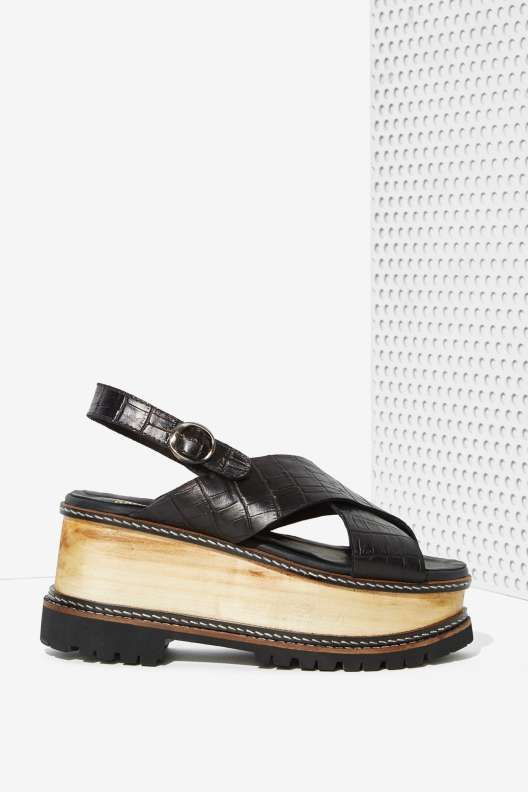 Sabrina Tach Marte Leather Platform - From Faraway Nearby