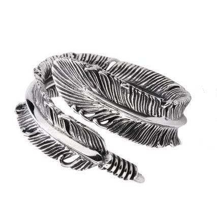 Feather Shaped Adjustable Wrap Ring de Best-Buy por DaWanda.com