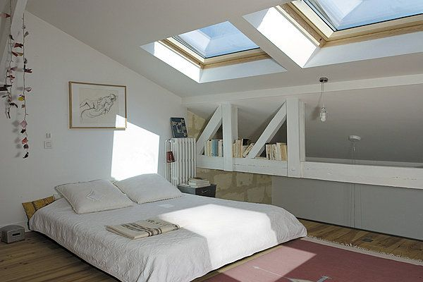 ciel de lumi re velux attic conversion inspiration. Black Bedroom Furniture Sets. Home Design Ideas