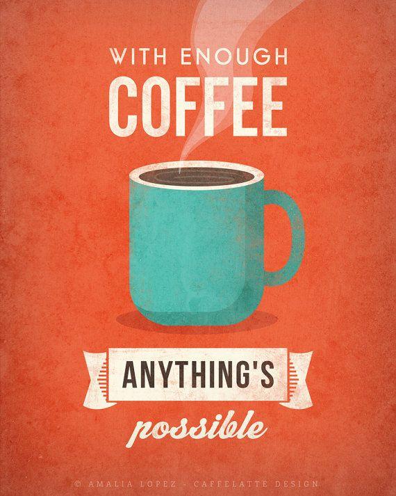retro print coffee poster
