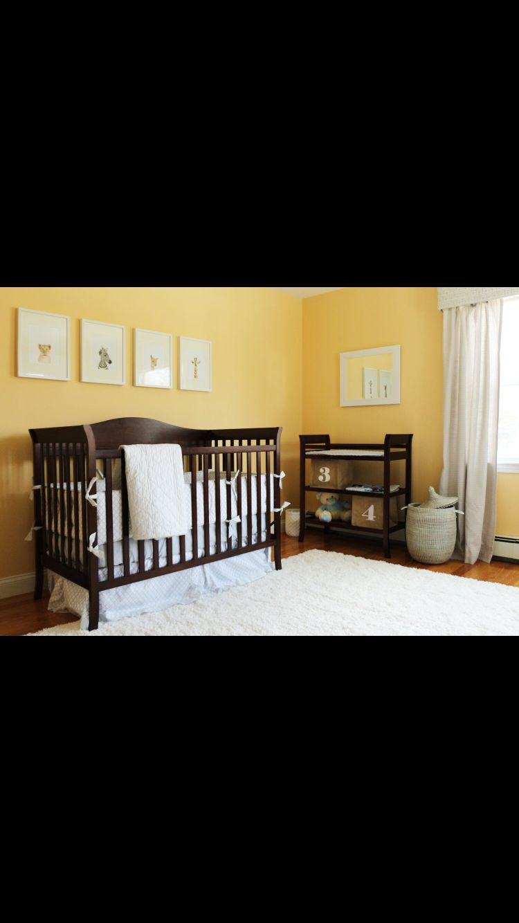 Yellow walls and cherry furnitures! | Nursery Ideas | Pinterest ...