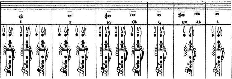 Clarinet Fingering Chart  Music  ClarinetFluteSaxophone Oboe