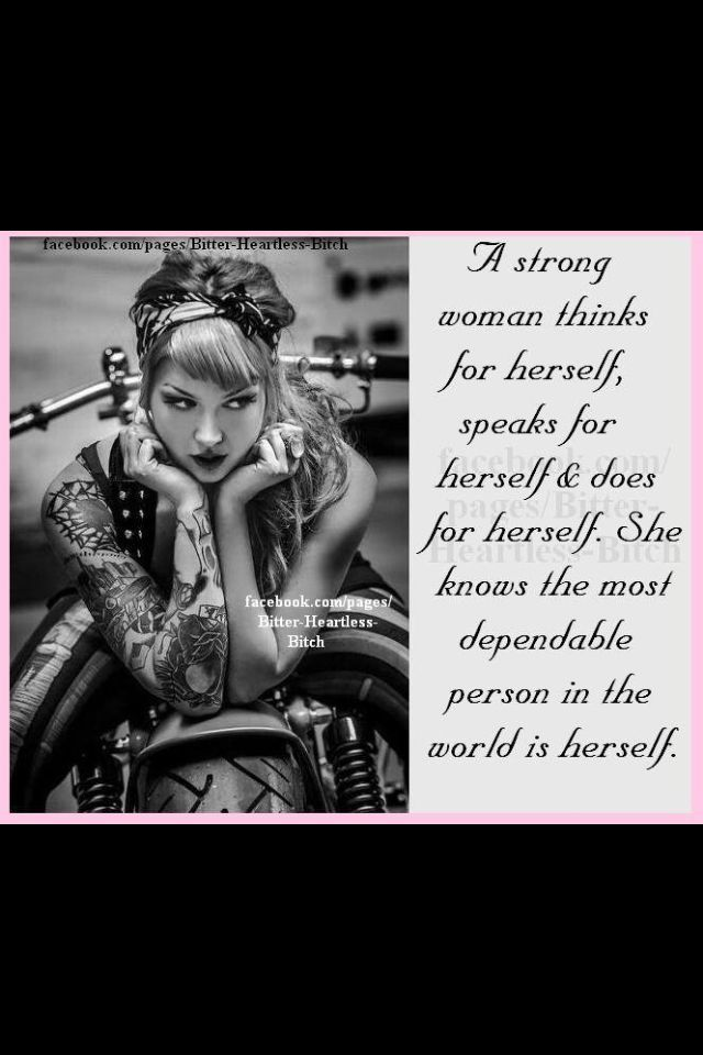 Female Biker Quotes | Via Rock Bottom | Thoughts | Biker quotes