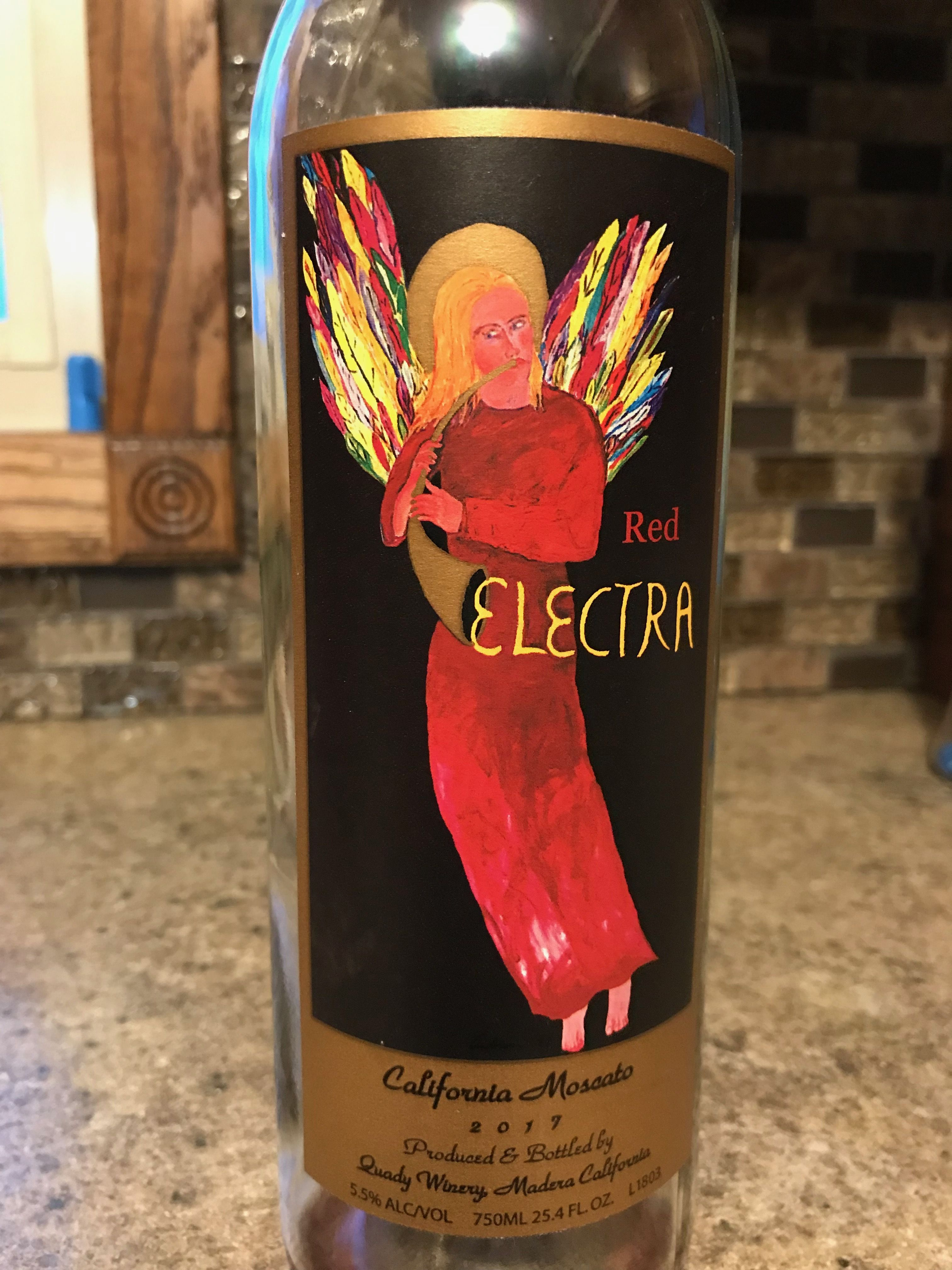 Red Electra California Moscato Moscato Wines Glassware