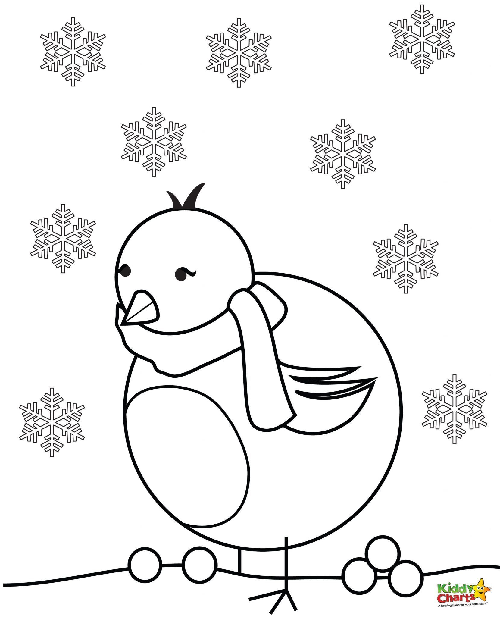 Colouring in reward charts - Robin Coloring Pages