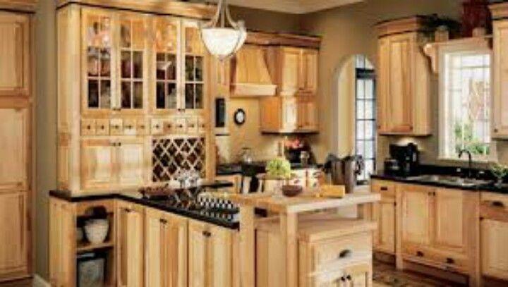 Hickory cabinets   Hickory kitchen cabinets, Hickory kitchen ...