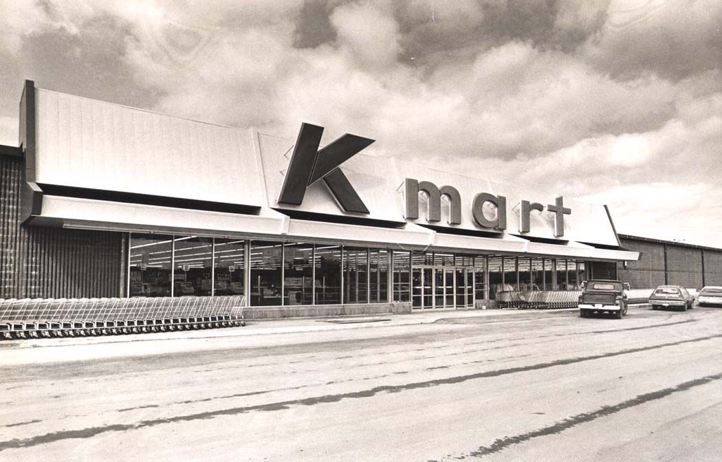 Kmart Store Shortly Before Opening In 1975 Retro Photo Back In The Day Kmart