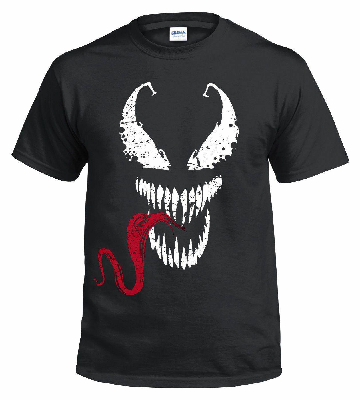 Inspired Design Top Venom Face Tongue T-Shirt Spiderman T-Shirt