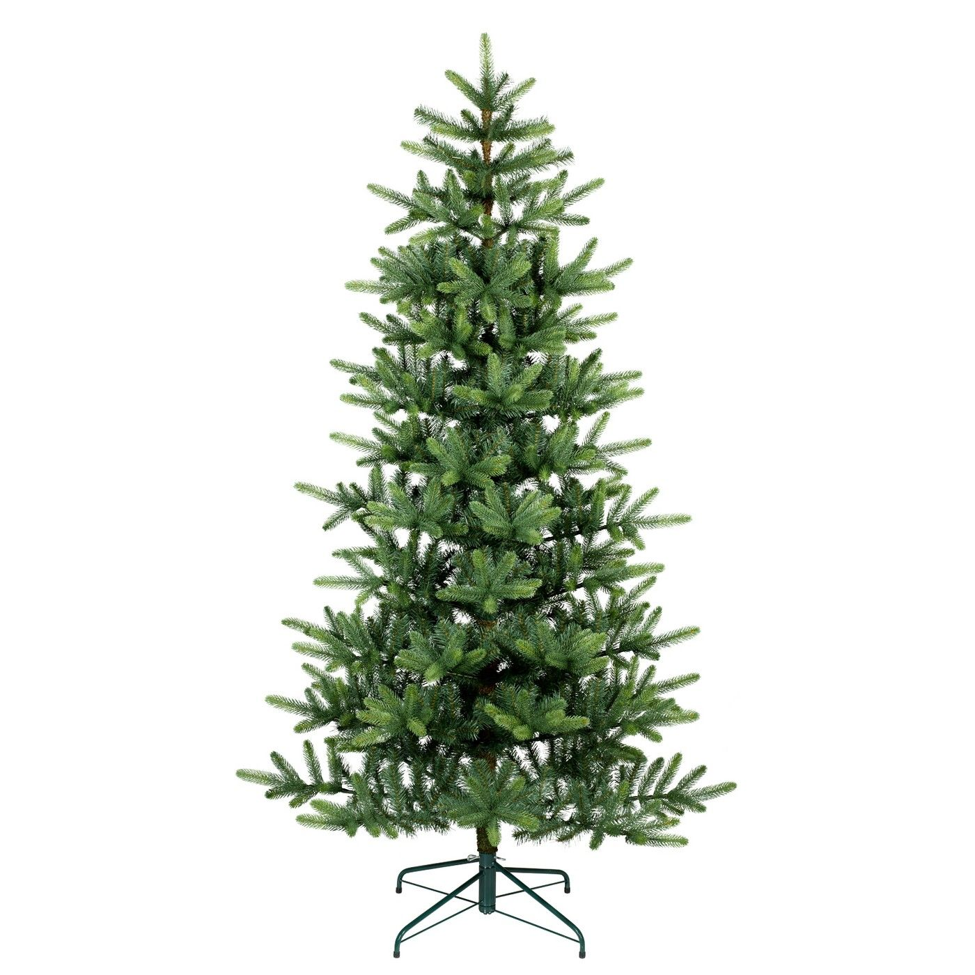7ft Unlit Artificial Christmas Tree New Growth Green