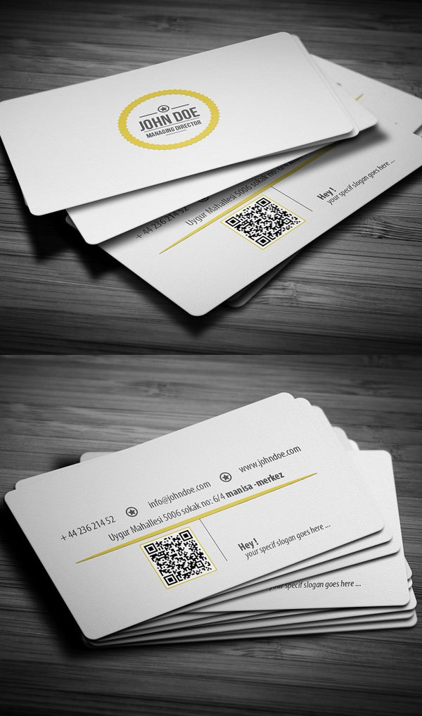White Professional Business Card #businesscards #corporatedesign ...