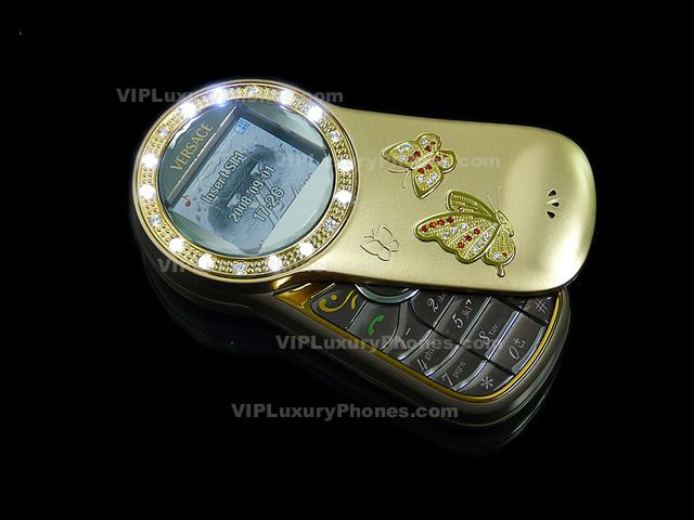 7518f057edc6 Versace Mobile Gold Flip Butterfly GSM Phone | Luxury Phones ...