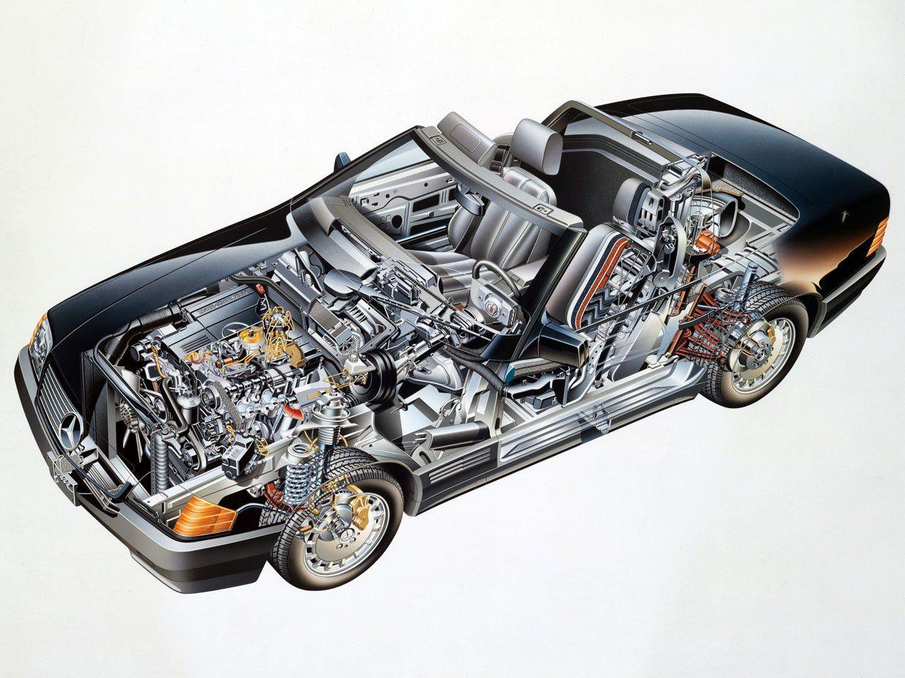 A3 Bugatti Type 35 Cutaway Drawing Wall Poster Art Picture Print