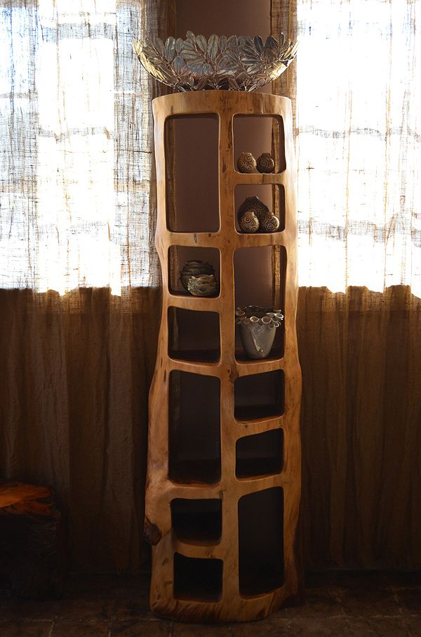 Tree Trunk Bookshelf Bucherregal Baumstamm Regal
