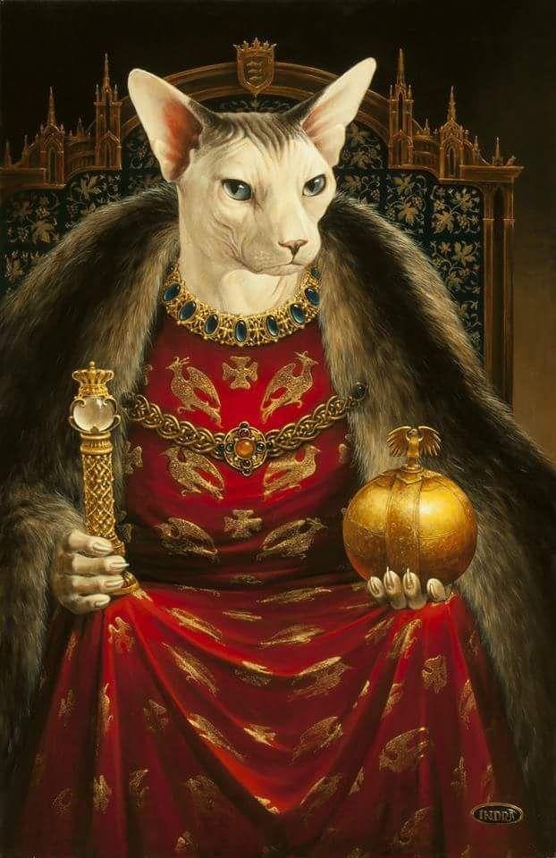 Grusaite Animal Portraits Art Cat Portraits Cats Illustration
