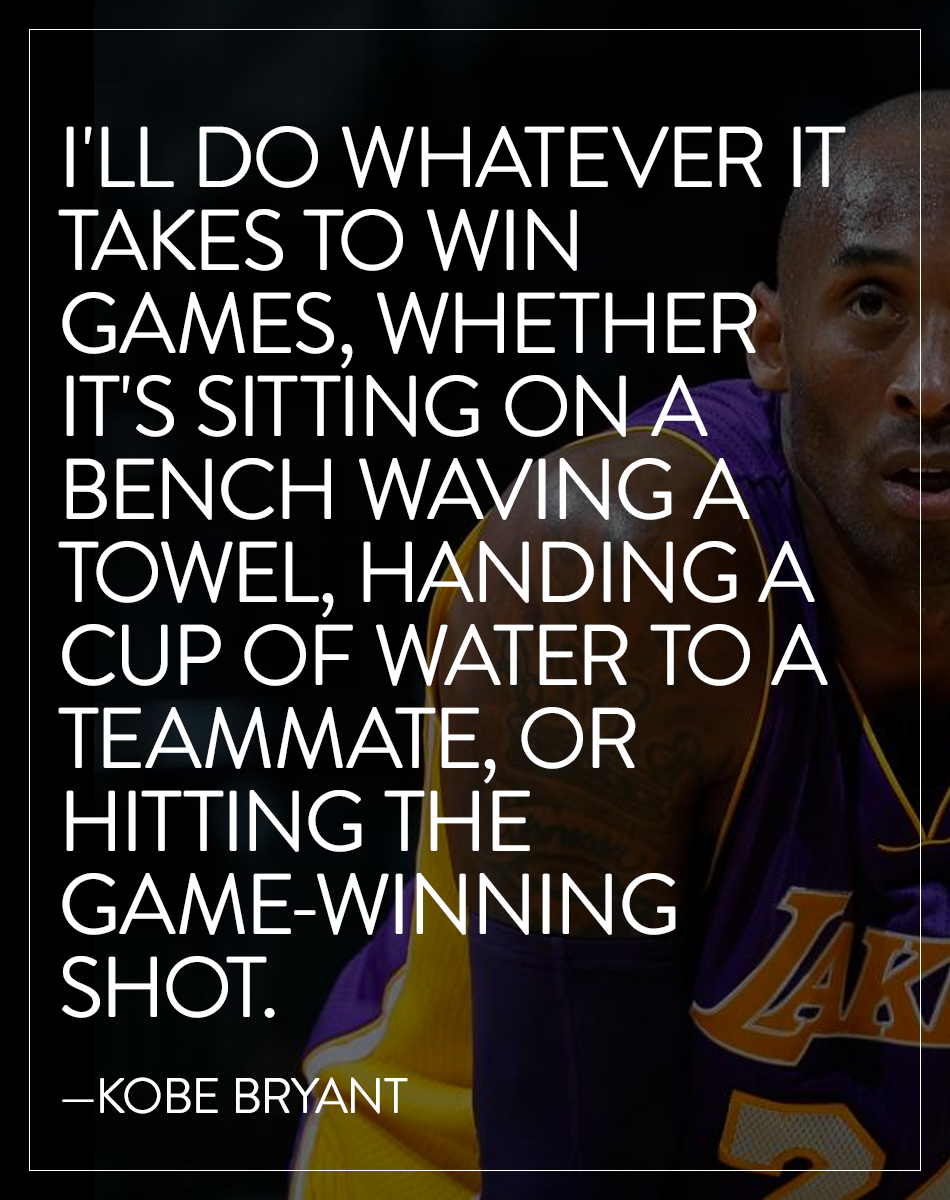 No work is beneath you if you want to succeed. -- Kobe Bryant ... 9b055de71