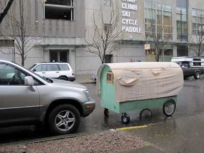 Lloyd S Blog Bike Trailer Homes For Portland S Homeless Homeless Housing Bike Trailer Trailer Home