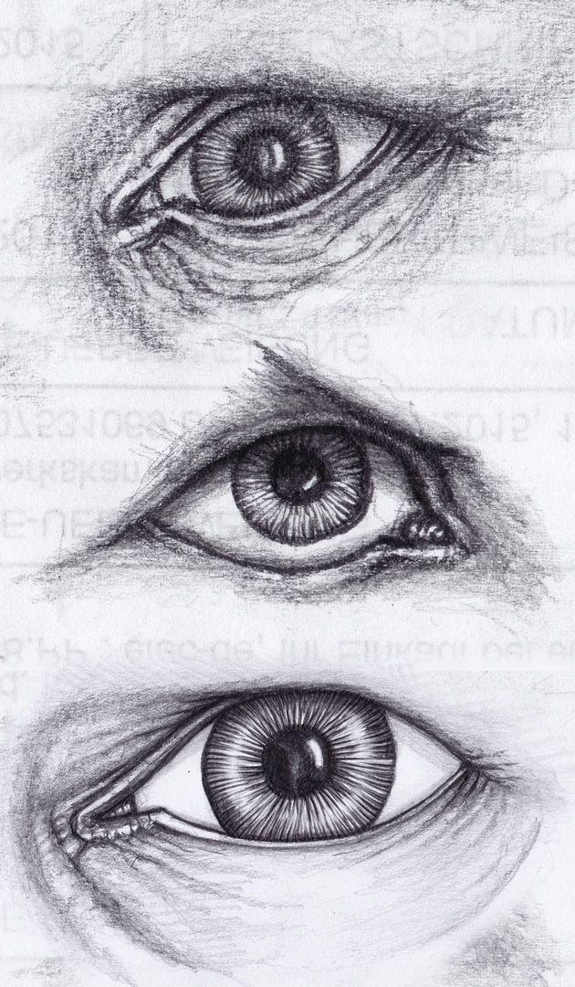 Auge Gezeichnet Bleistift 01 Augen Zeichnen