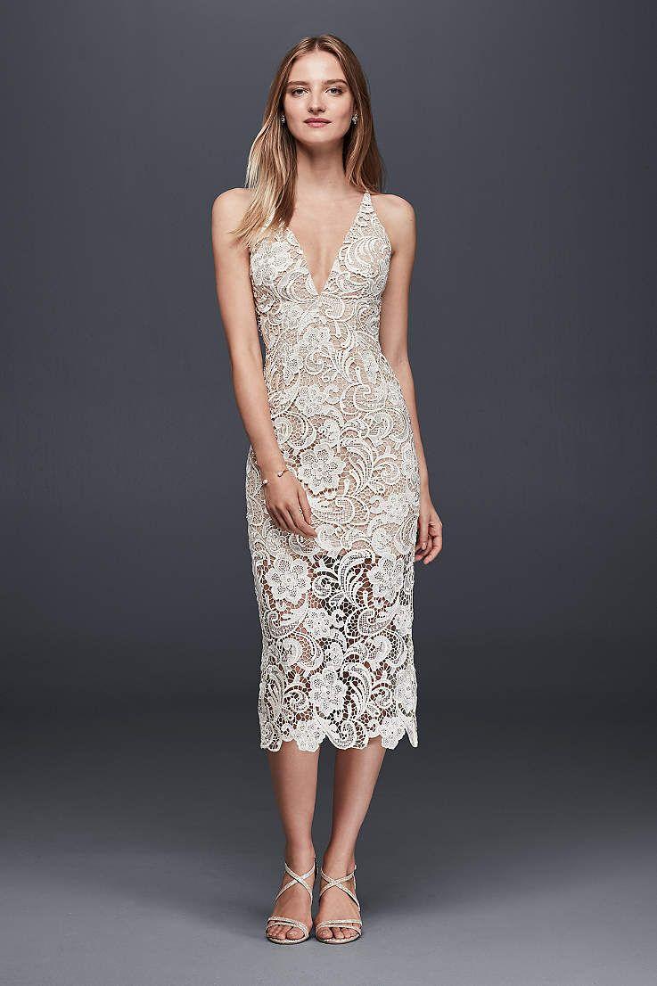 Simple lace dress styles  Davidus Bridal has a variety of beach u destination wedding dresses