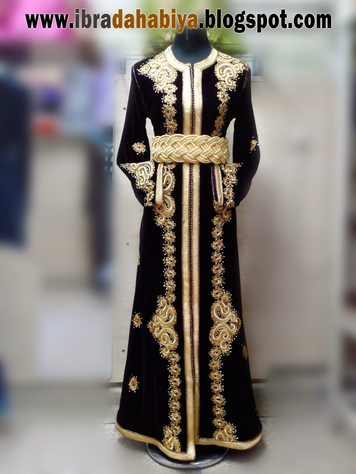 23 قفطان مغربي موديل جديد بالذهبي الفاخر Balochi Dress Moroccan Caftan Victorian Dress