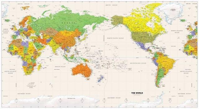 Political World Map pacific rim u20ac16,90 wwwngshopnl - fresh world map pdf in english