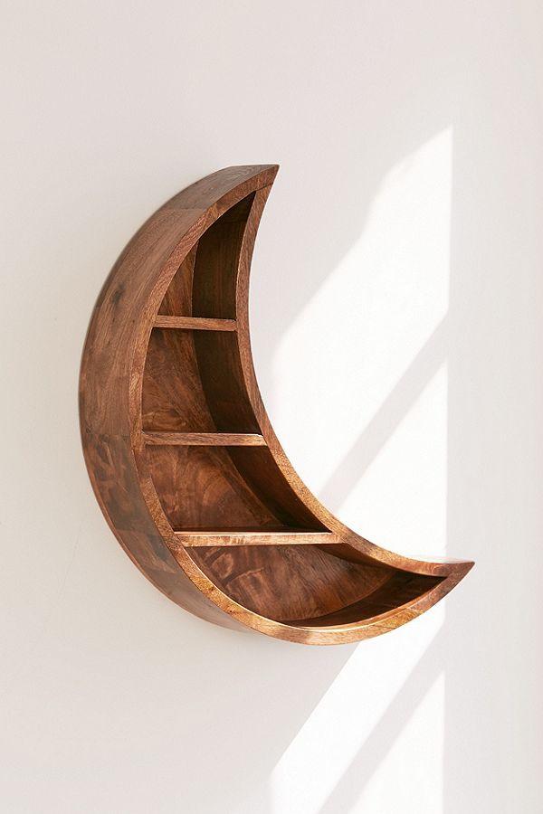Crescent Moon Wall Shelf Shelves Decor