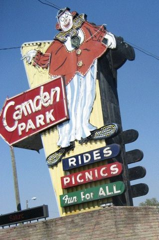 Camden Park, Sign of the Happy Clown, Huntington, WV | West