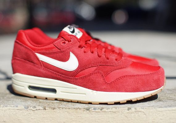 nike air max 1 gym red suede loafers