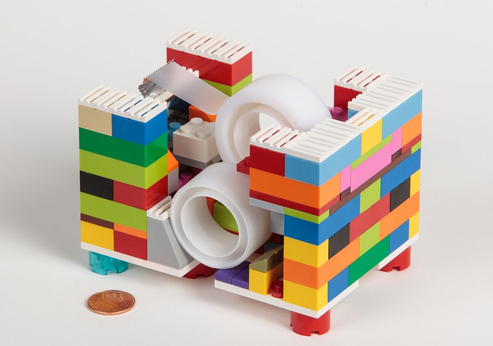 lego tape dispenser - Google Search   Lego Flowers, food and other ...
