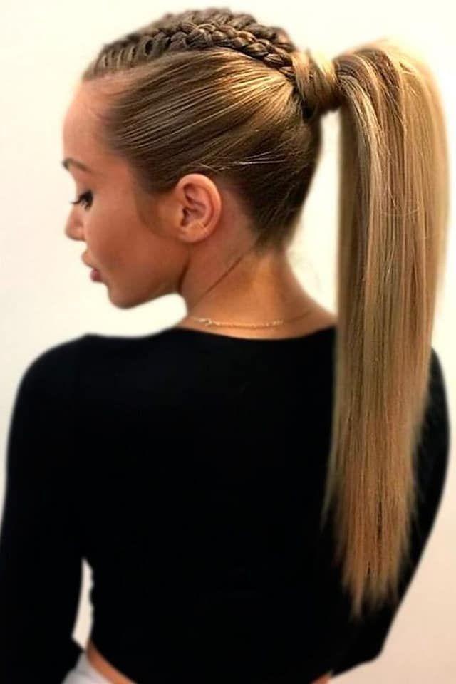 Las mejores variaciones de peinados de cola alta Imagen de estilo de color de pelo - Pin de Lucy Campos en Peinados   Peinado con cola de ...