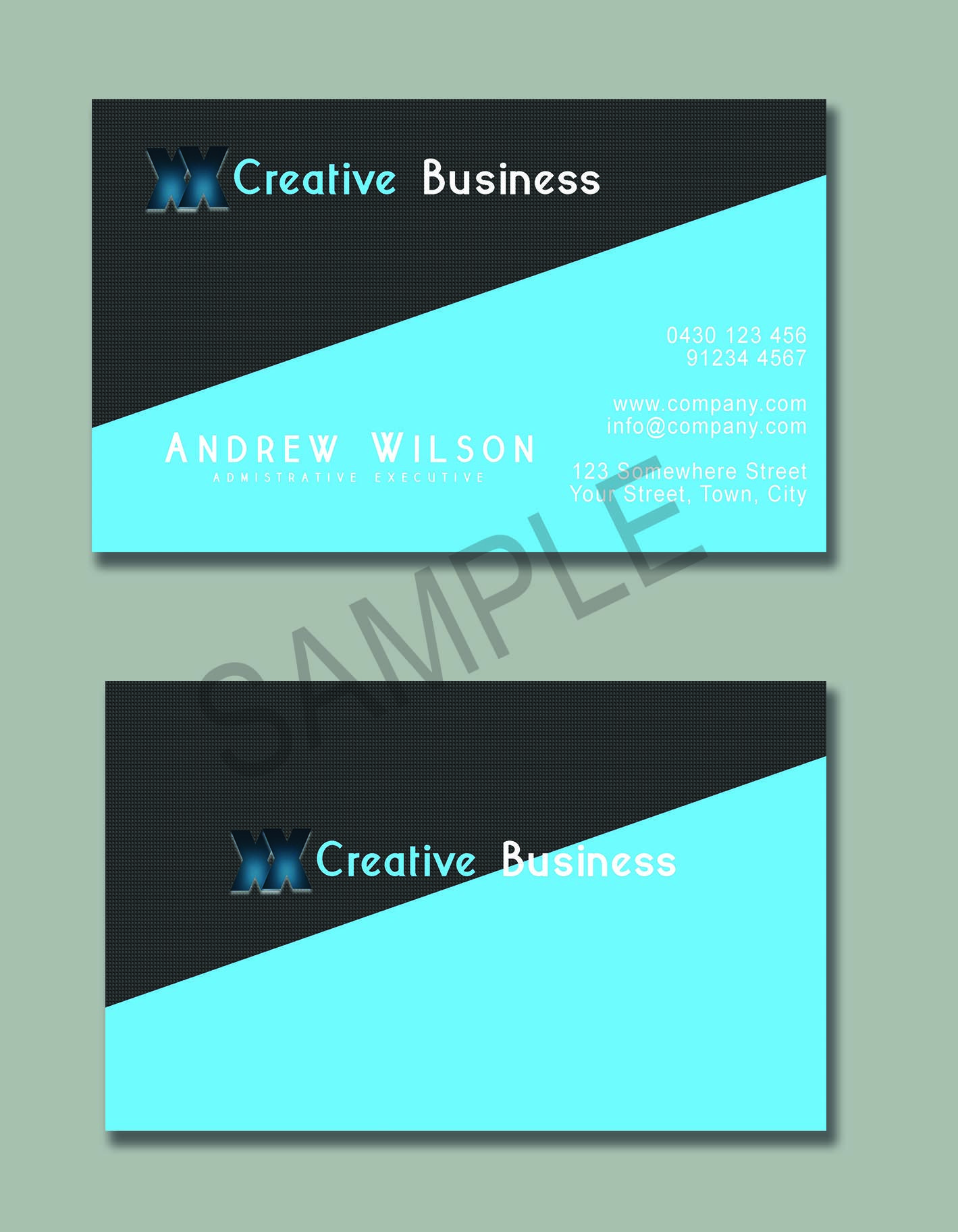 Business card sample 11 which is for sale all details can be changed ...