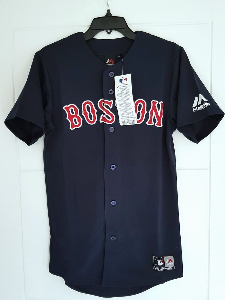 55032ce9b57 MAJESTIC BOSTON RED SOX Official MLB Baseball Jersey Shirt Authentic New  Mens XS  Majestic  BostonRedSox  MLB  Baseball  Jersey  Shirt  Mens  Sport