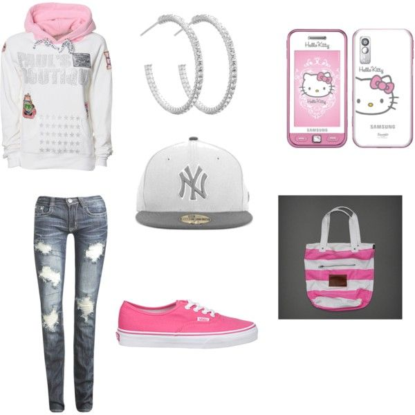 """""""pink all day..."""" by samanthaaboss on Polyvore everything but sweatshirt"""