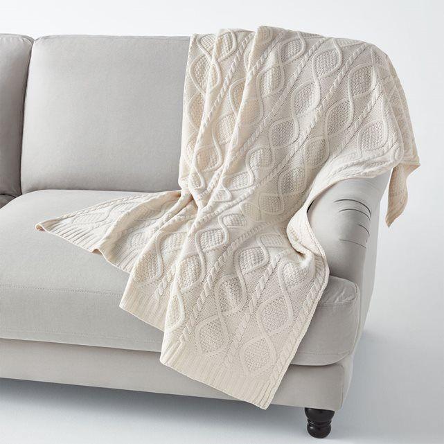 plaid tricot aker la redoute interieurs home pinterest. Black Bedroom Furniture Sets. Home Design Ideas