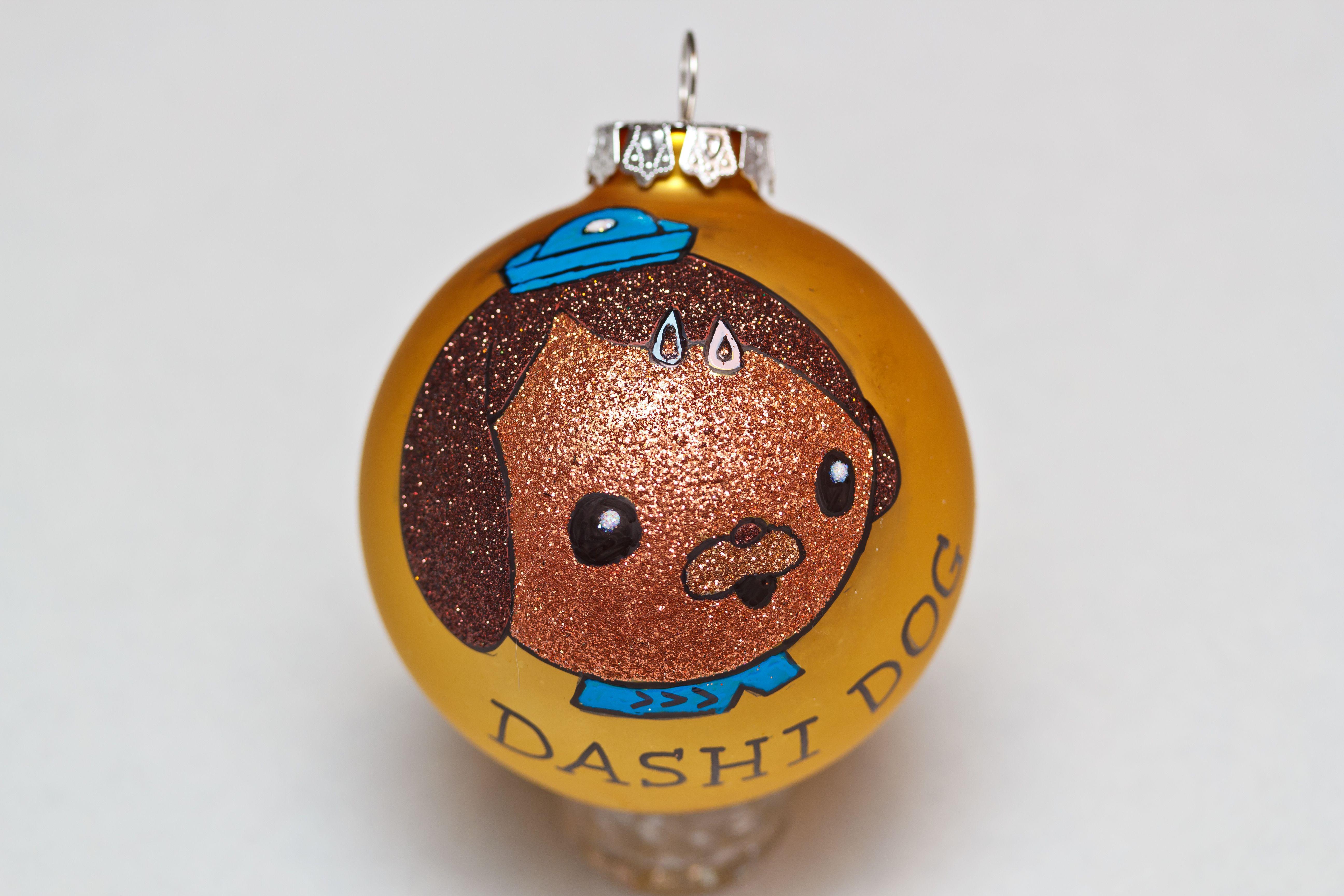 Dashi Dog of The Octonauts glass Christmas ornament. | Glass ...