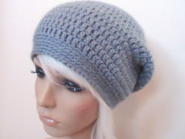 free crochet pattern: really easy slouchy beanie | Handschuh, Mütze ...