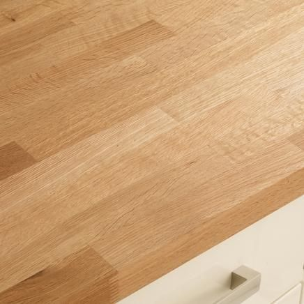 a traditional oak block solid wood kitchen worktop made with natural wood which means every worktop is unique