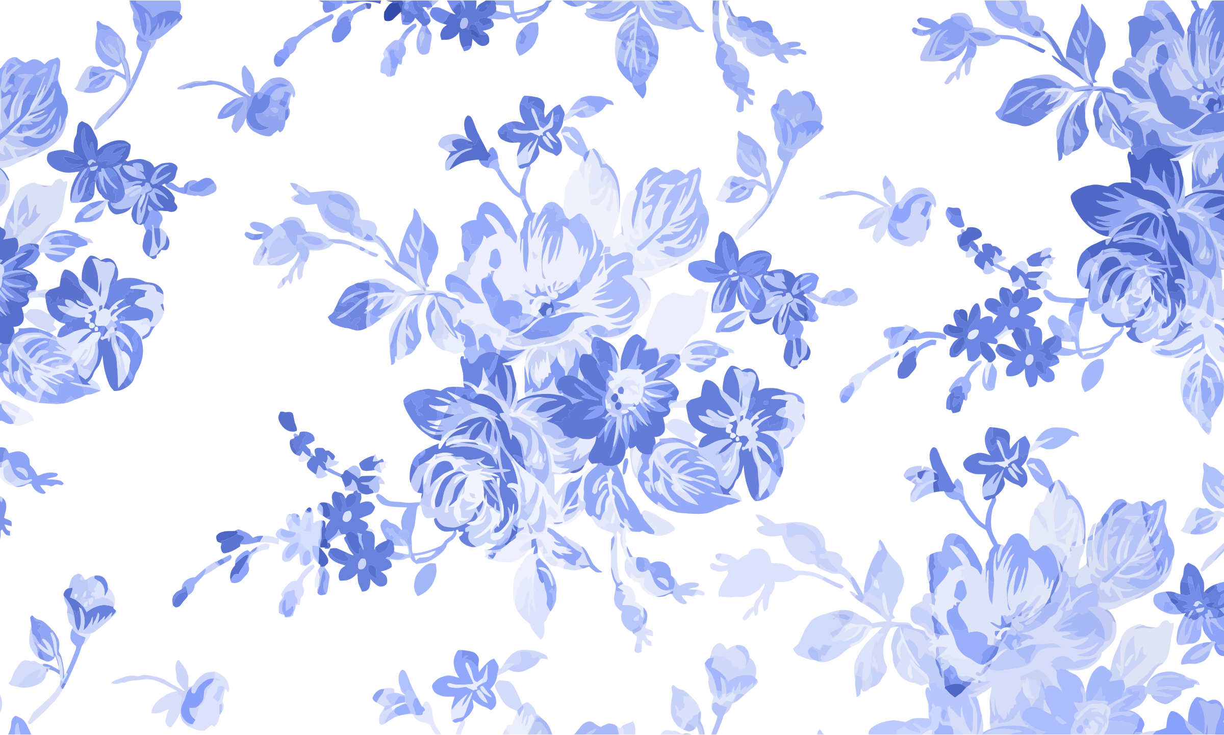 Blue Floral Watercolor Background Floral, Watercolor