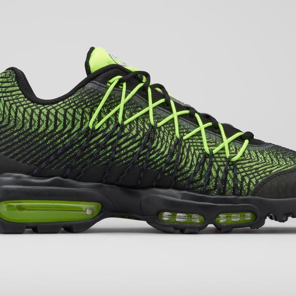 Nike Air Max 95 Herren Sportschuhe BlckVlt Mdm Asch Dk