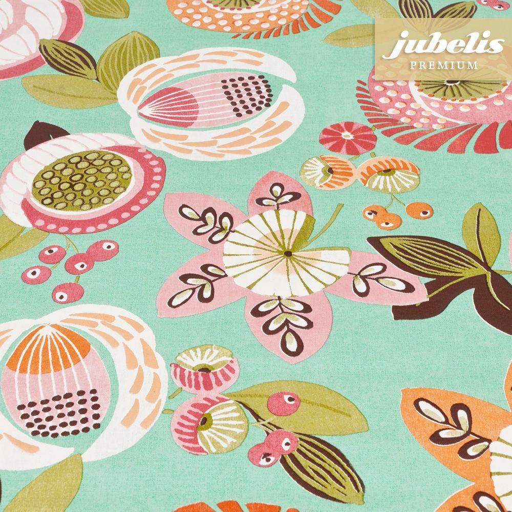 jubelis premium wachstuch tischdecken und rollen extradick nica mint florales muster i work. Black Bedroom Furniture Sets. Home Design Ideas