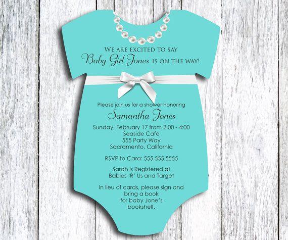 Robins Egg Blue Baby Shower Invitation Jewelry Box