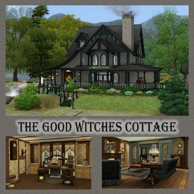 Sashraf ts3 community the good witches cottage sims3 for Witches cottage house plans