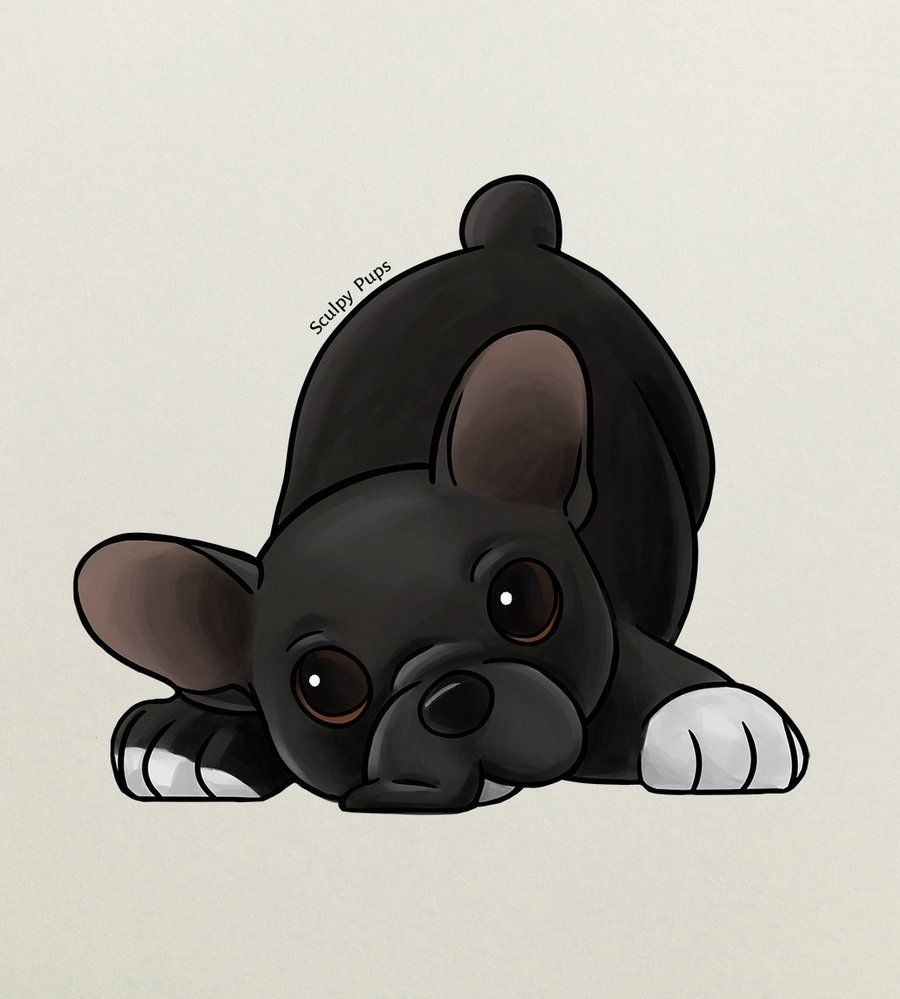 French Bulldog Puppy Drawing By Sculptedpups Deviantart Com On