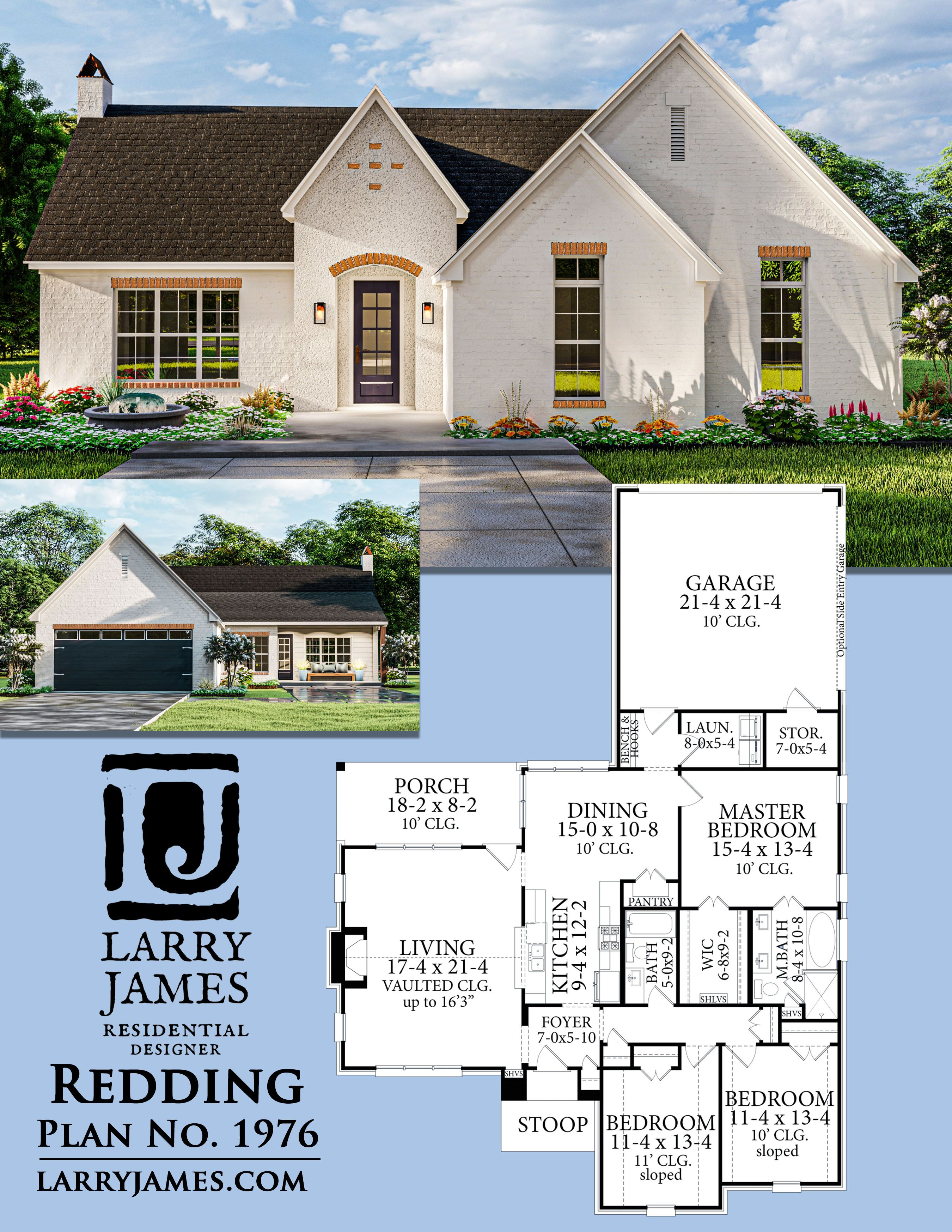 The Redding House Plan 1976 In 2020 House Plans House House Design