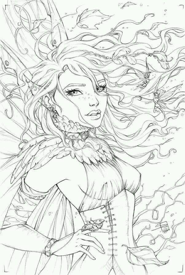 Pin von Aneschk James auf Coloring | Pinterest | weibliche Zeichnung ...