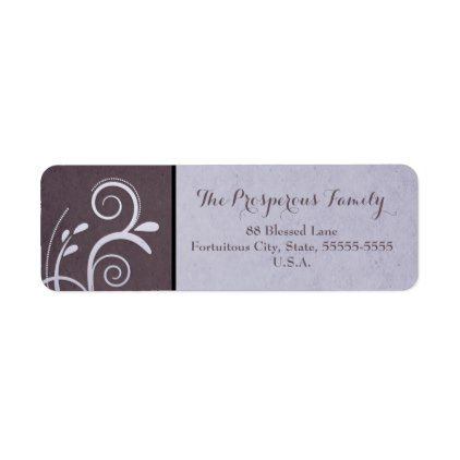purple swirl vintage new year label return address labels label diy personalize cyo unique design