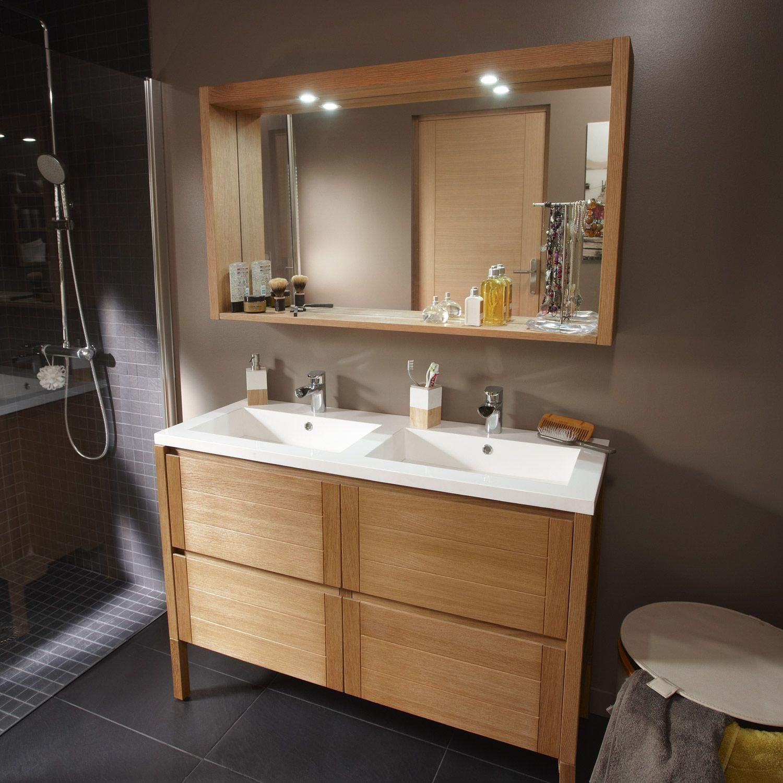 caisson meuble sous vasque fjord ch ne naturel 4 tiroirs leroy merlin. Black Bedroom Furniture Sets. Home Design Ideas
