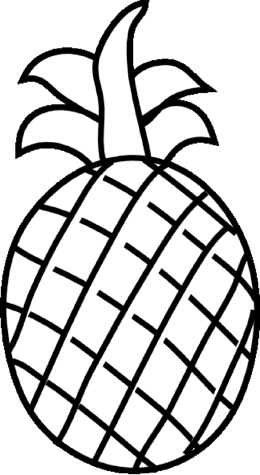 Ripe Pineapple Fruit Fruits Coloring Pages