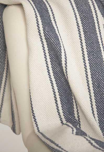 Dash And Albert Blue Awning Stripe Throw Industrial Farmhouse Mesmerizing Dash And Albert Throw Blankets
