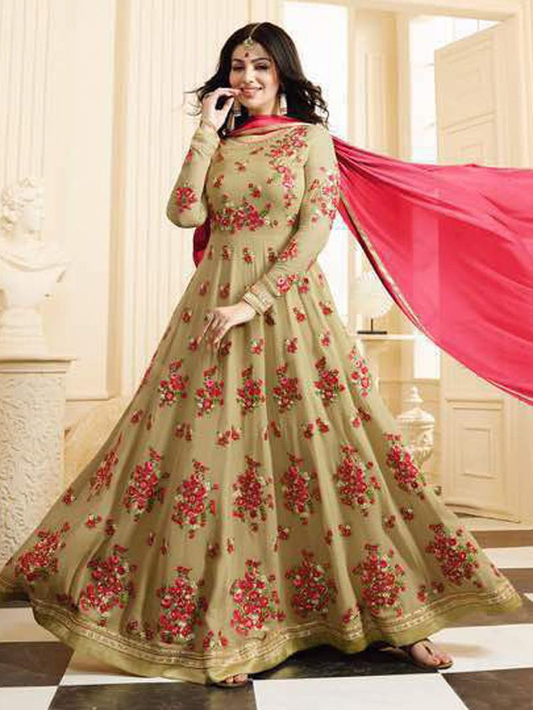 dc0ed1a54c Indian Salwar kameez Designer Party Wear gown Bollywood Embroidery Dress  #Shoppingover #PartyWear