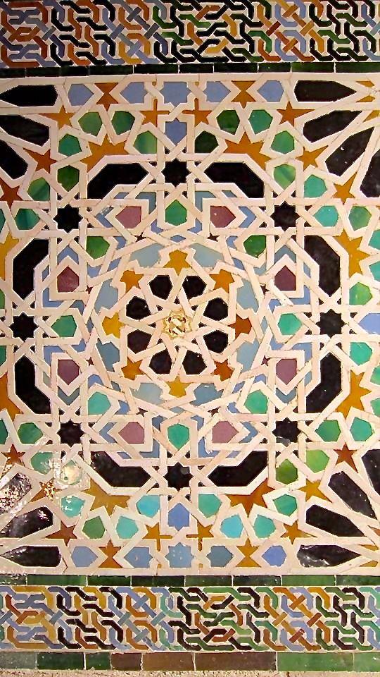 Alhambra Granada Spain Arte Geometrico Mosaicos Mudejar